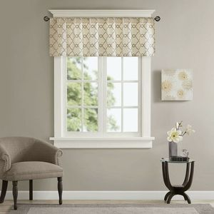 🆕️ Madison Park Serene Embroidered Window Valance